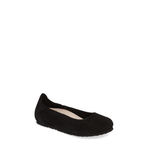 ビルケンシュトック BIRKENSTOCK レディース スリッポン・フラット シューズ・靴 Celina II Ballet Flat Black Suede