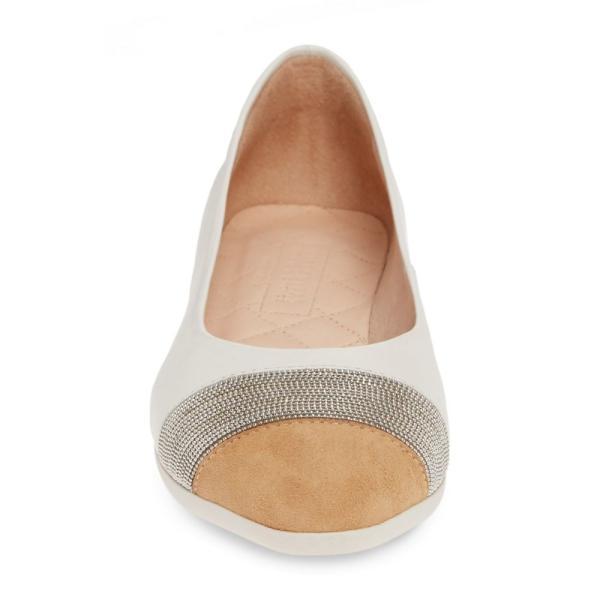 ヒスパニタス HISPANITAS レディース スリッポン・フラット シューズ・靴 Saylor Embellished Cap Toe Flat Soho Panna Leather