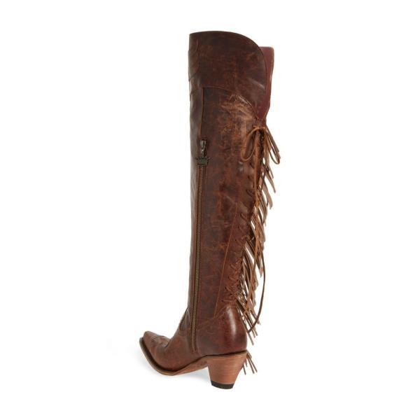 レーンブーツ LANE BOOTS レディース ブーツ シューズ・靴 x Junk Gypsy Fringe Over the Knee Western Boot