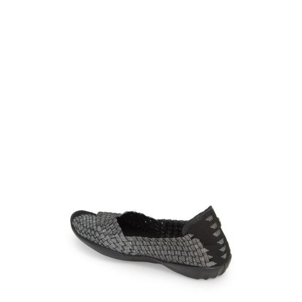 ベルニー メイヴ BERNIE MEV. レディース スリッポン・フラット シューズ・靴 Dream Flat Black Shimmer Fabric