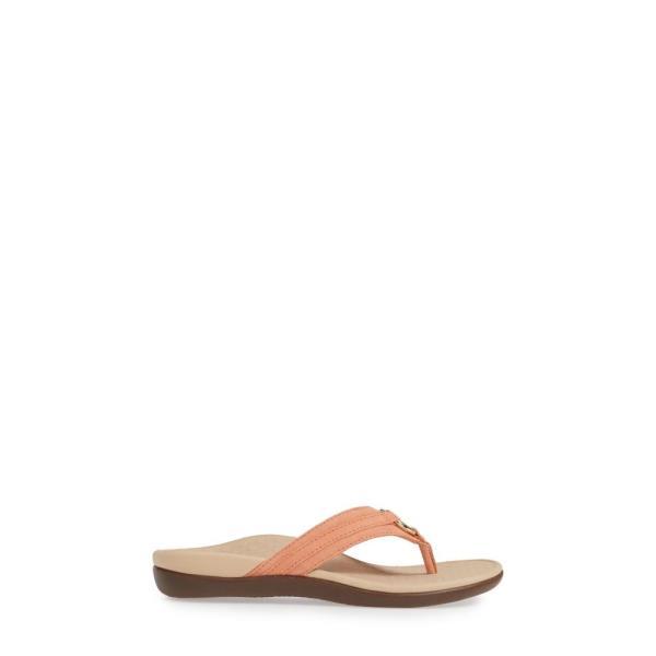 バイオニック VIONIC レディース ビーチサンダル シューズ・靴 Aloe Flip Flop Salmon Suede
