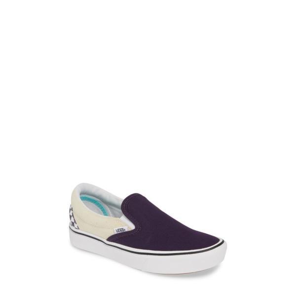 ヴァンズ VANS レディース スリッポン・フラット シューズ・靴 ComfyCush Colorblock Slip-On Sneaker Mysterioso Blue/ True White