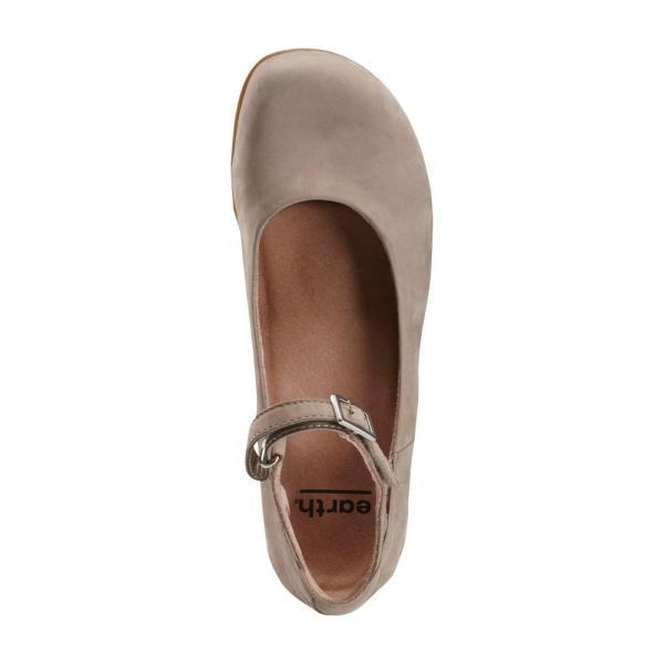カルソーアースシューズ EARTH レディース スリッポン・フラット シューズ・靴 Alma Mary Jane Flat Coco Nubuck Leather