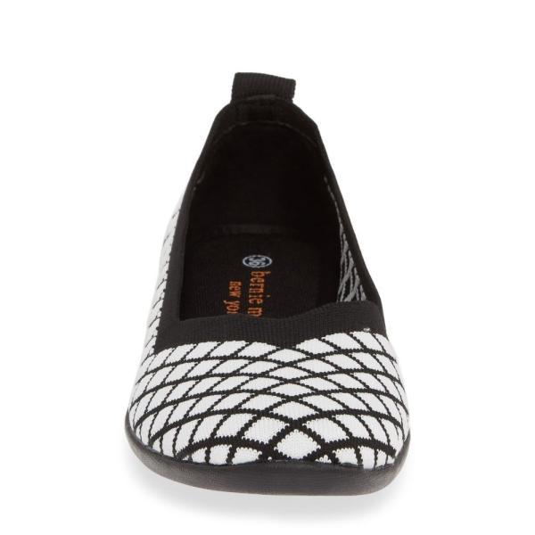 ベルニー メイヴ BERNIE MEV. レディース スリッポン・フラット シューズ・靴 Catwalk X Flat Black/ White Fabric