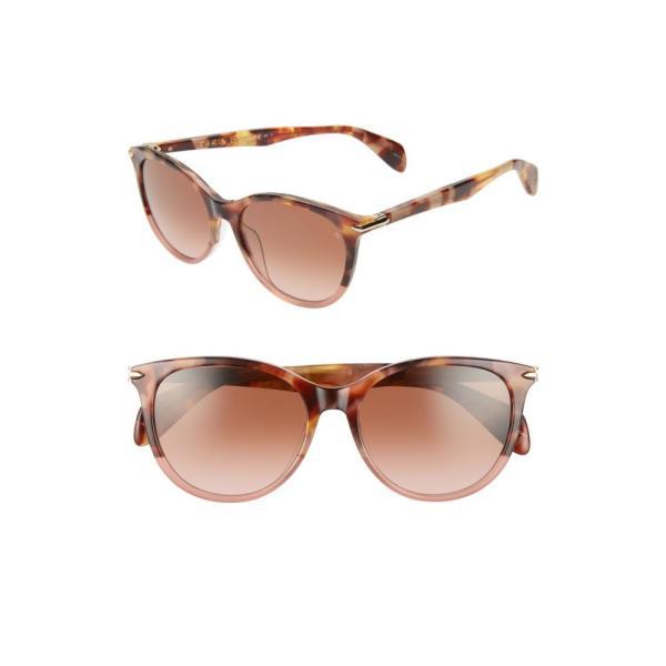 ラグ&ボーン RAG & BONE レディース メガネ・サングラス 54mm Round Cat Eye Sunglasses Pink Havana