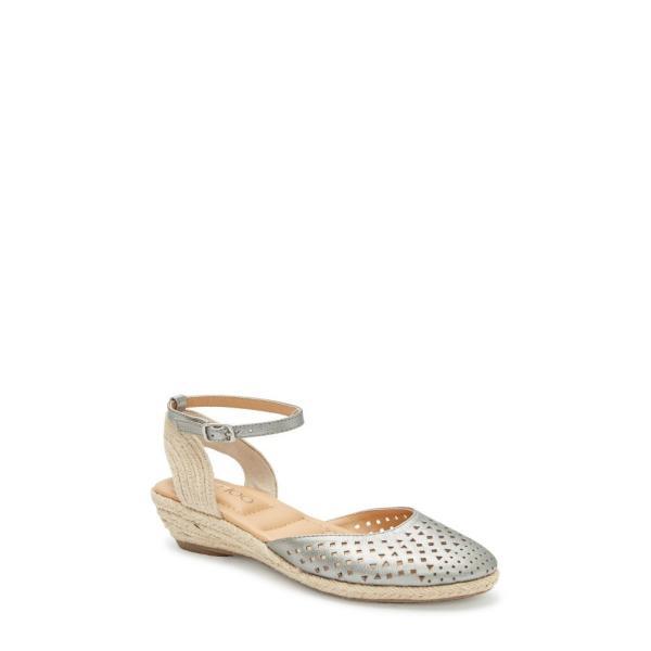 ミートゥー ME TOO レディース エスパドリーユ シューズ・靴 Norina Espadrille Sandal Pewter Metallic Leather