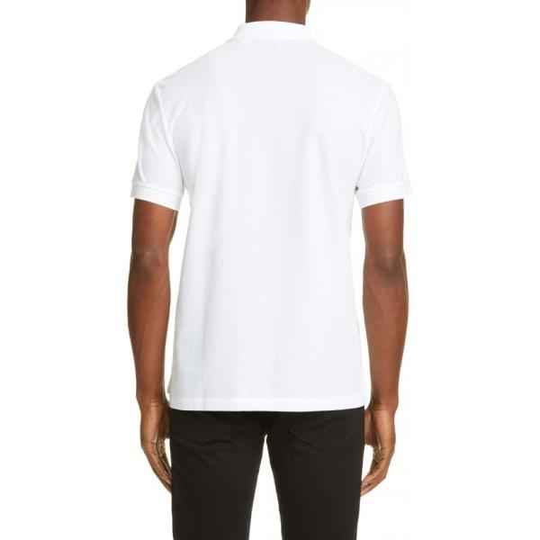 バーバリー BURBERRY メンズ ポロシャツ トップス Eddie Pique Polo White ef-3 02