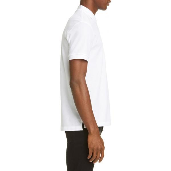 バーバリー BURBERRY メンズ ポロシャツ トップス Eddie Pique Polo White ef-3 03