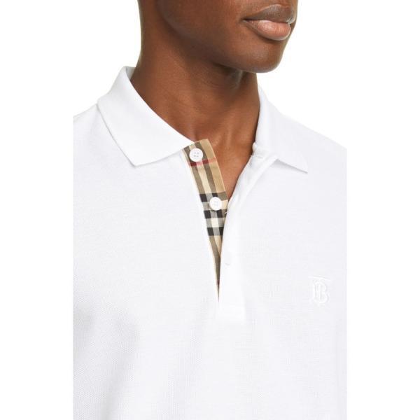 バーバリー BURBERRY メンズ ポロシャツ トップス Eddie Pique Polo White ef-3 04