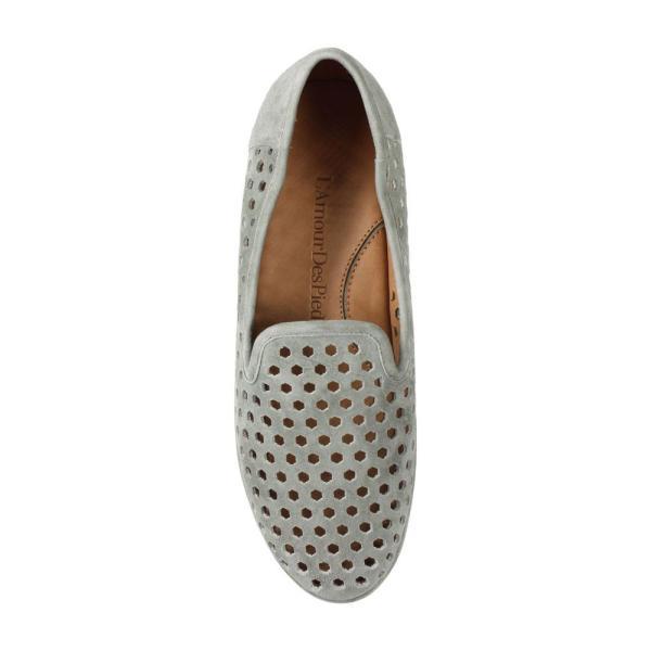 ラモールドピード L'AMOUR DES PIEDS レディース ローファー・オックスフォード シューズ・靴 Clemence Loafer Light Grey Suede