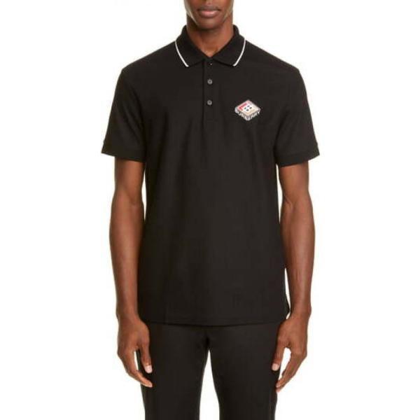 バーバリー BURBERRY メンズ ポロシャツ トップス Aiden Polo Black|ef-3