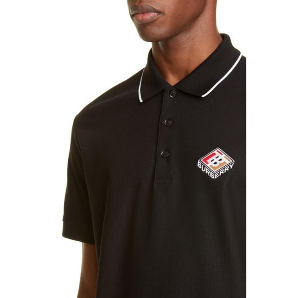 バーバリー BURBERRY メンズ ポロシャツ トップス Aiden Polo Black|ef-3|04