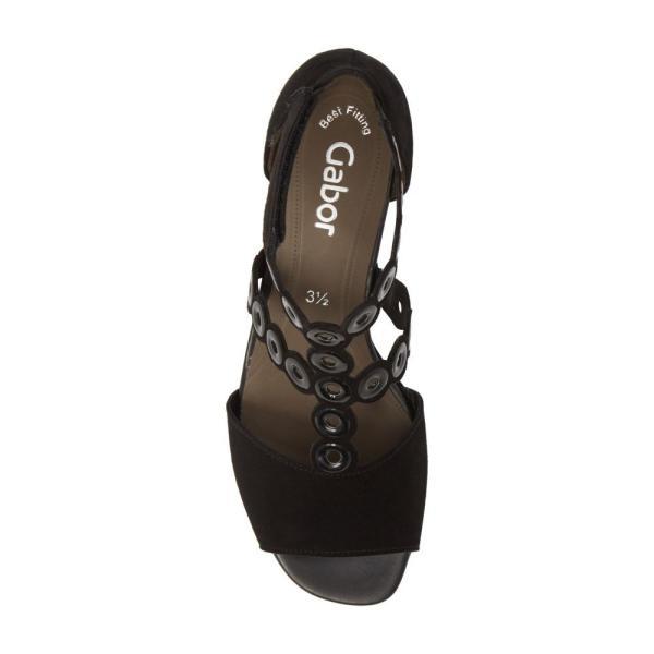 ガボール GABOR レディース サンダル・ミュール シューズ・靴 T-Strap Sandal Black Suede