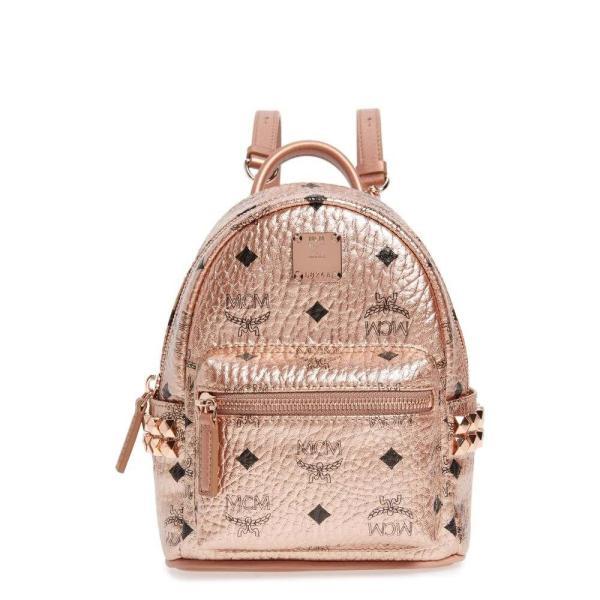 エムシーエム MCM レディース バックパック・リュック バッグ X-Mini Stark Side Stud Coated Canvas Backpack