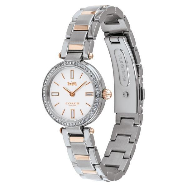 コーチ COACH レディース 腕時計 Park Bracelet Watch, 26mm Rose Gold / White/ Silver