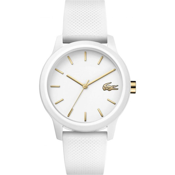 54a1f6509cd4 ラコステ LACOSTE レディース 腕時計 12.12 Silicone Strap Watch, 36mm Whiteの画像