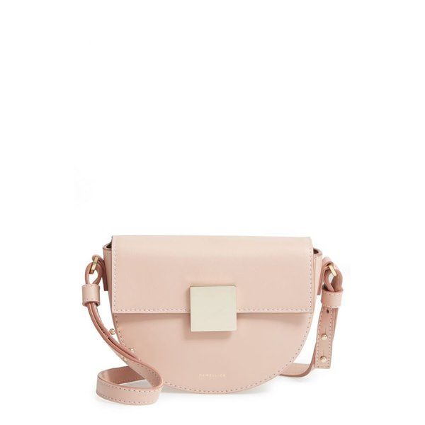 デメリエー DEMELLIER レディース ショルダーバッグ バッグ Mini Oslo Leather Shoulder Bag Blush