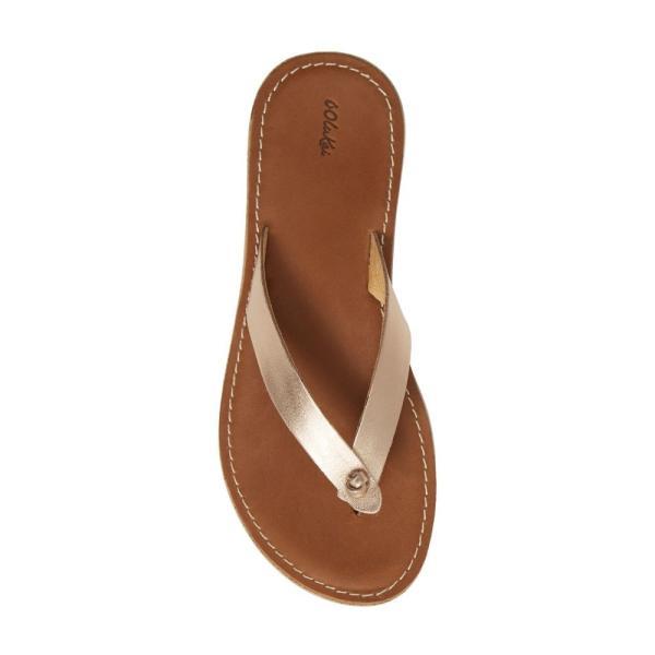 オルカイ OLUKAI レディース ビーチサンダル シューズ・靴 Nohie Flip Flop Bubbly/ Tan Leather