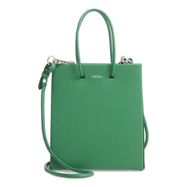 メデア MEDEA レディース バッグ Short Prima Calfskin Leather Bag Deep Green|ef-3