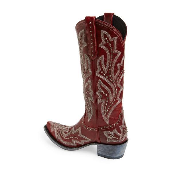 レーンブーツ LANE BOOTS レディース ブーツ シューズ・靴 Saratoga Stud Western Boot Red Leather