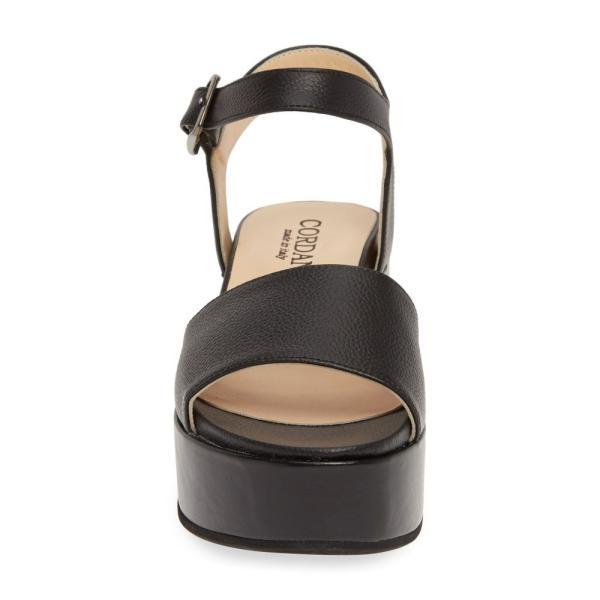 コルダニ CORDANI レディース サンダル・ミュール シューズ・靴 Karrie Platform Sandal Black Leather