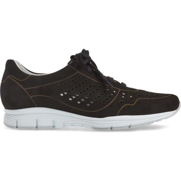 メフィスト MEPHISTO レディース スニーカー シューズ・靴 Yliane Sneaker Black Nubuck Leather