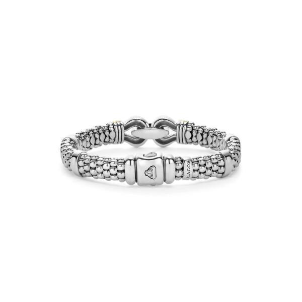 ラゴース LAGOS レディース ブレスレット ジュエリー・アクセサリー 'Derby' Two-Tone Caviar Rope Bracelet Sterling Silver - Gold