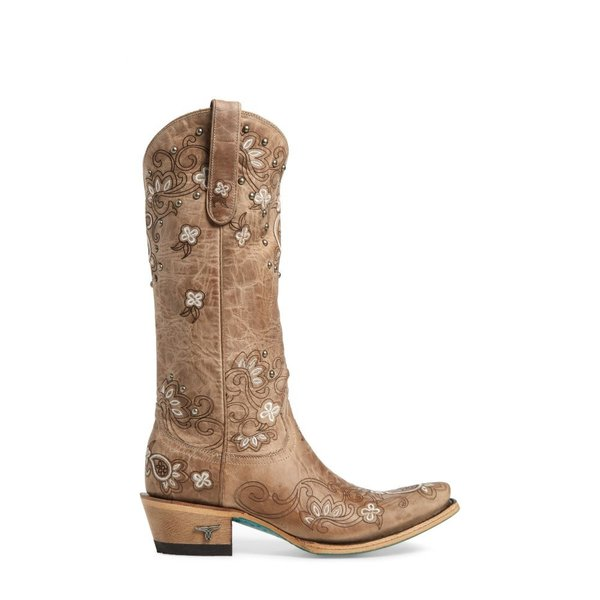 レーンブーツ LANE BOOTS レディース ブーツ シューズ・靴 Sweet Paisley Embroidered Western Boot Bone Leather