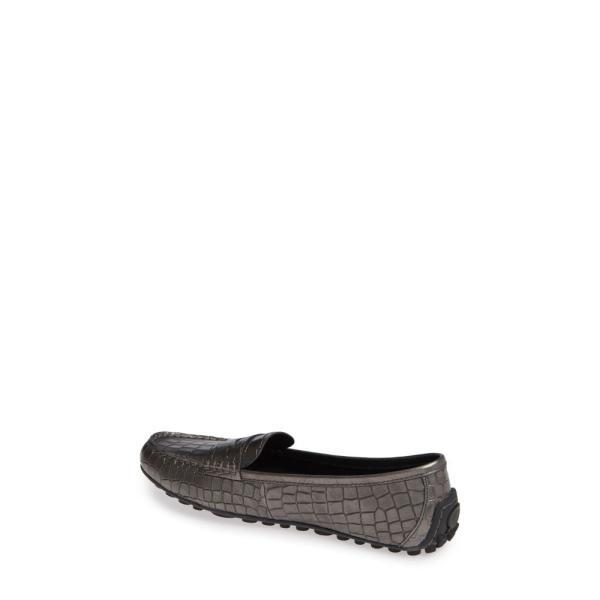 ボーン BORN レディース ローファー・オックスフォード シューズ・靴 Malena Driving Loafer Pewter Croc Metallic Leather