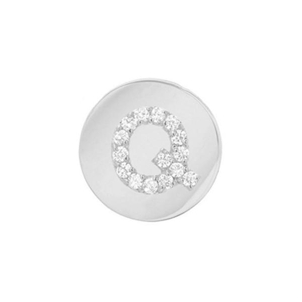 ミニミニジュエルズ MINI MINI JEWELS レディース イヤリング・ピアス ジュエリー・アクセサリー Framed Diamond Initial Earring