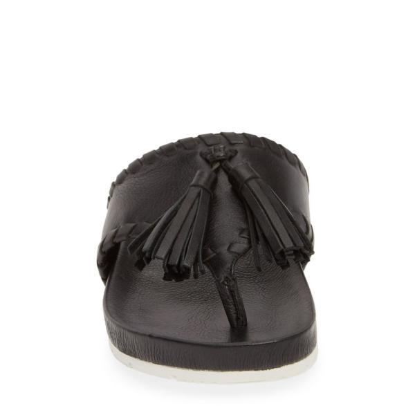 ジェースライズ JSLIDES レディース ビーチサンダル シューズ・靴 Nigel Tassel Slide Sandal Black Leather