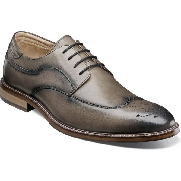ステイシー アダムス STACY ADAMS メンズ 革靴・ビジネスシューズ ウイングチップ シューズ・靴 Fletcher Wingtip Gray ef-3