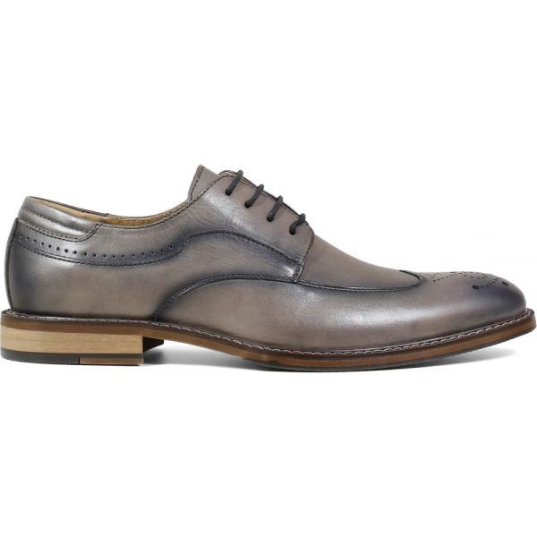 ステイシー アダムス STACY ADAMS メンズ 革靴・ビジネスシューズ ウイングチップ シューズ・靴 Fletcher Wingtip Gray ef-3 03