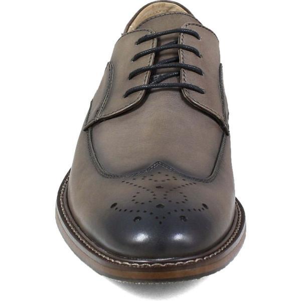 ステイシー アダムス STACY ADAMS メンズ 革靴・ビジネスシューズ ウイングチップ シューズ・靴 Fletcher Wingtip Gray ef-3 04