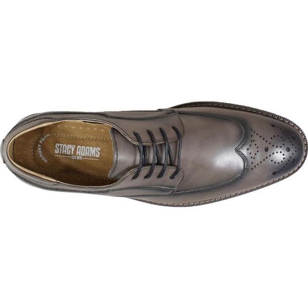 ステイシー アダムス STACY ADAMS メンズ 革靴・ビジネスシューズ ウイングチップ シューズ・靴 Fletcher Wingtip Gray ef-3 05