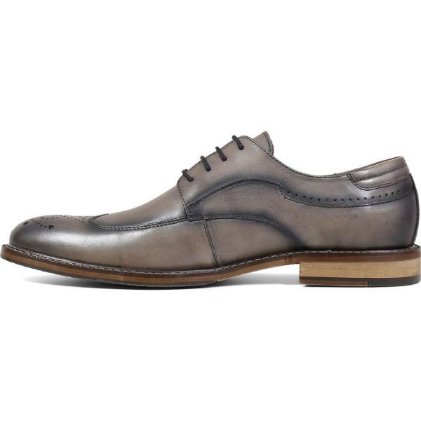 ステイシー アダムス STACY ADAMS メンズ 革靴・ビジネスシューズ ウイングチップ シューズ・靴 Fletcher Wingtip Gray ef-3 08