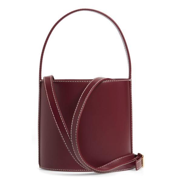 スタッド STAUD レディース ハンドバッグ バッグ Bissett Leather Bucket Bag Bordeux