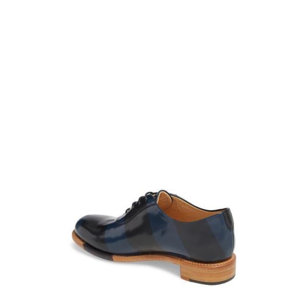 ザ オフィス オブ アンジェラ スコット THE OFFICE OF ANGELA SCOTT レディース ローファー・オックスフォード シューズ・靴 Mr. Smith Stripe Oxford Ocean