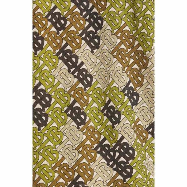 バーバリー BURBERRY メンズ ポロシャツ トップス Thorney Monogram Print Tipped Merino Wool Short Sleeve Polo Khaki|ef-3|05