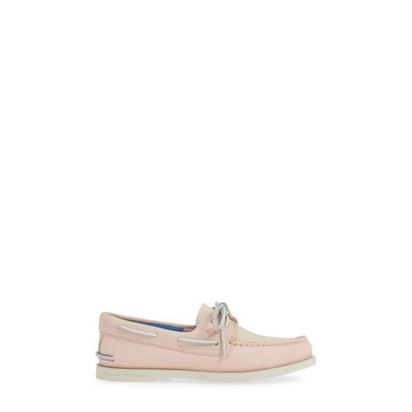 スペリー SPERRY レディース ローファー・オックスフォード シューズ・靴 Plush Colorblock Loafer Blush Canvas