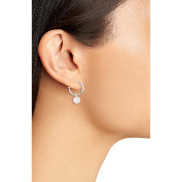 ミキモト MIKIMOTO レディース イヤリング・ピアス ジュエリー・アクセサリー Akoya Cultured Pearl Semi Hoop Earrings White Gold