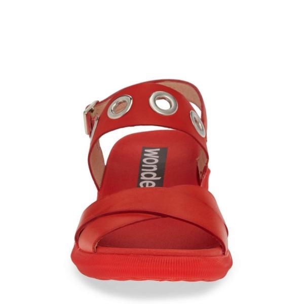 ワンダース WONDERS レディース サンダル・ミュール シューズ・靴 Quarter Strap Sandal Pergamena Red Leather