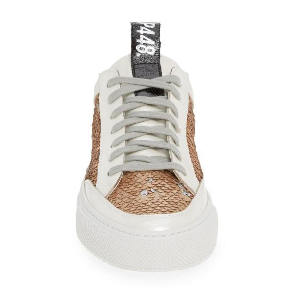 ピーフォーフォーエイト P448 レディース スニーカー シューズ・靴 Soho Sequin Low Top Sneaker White/ Gold