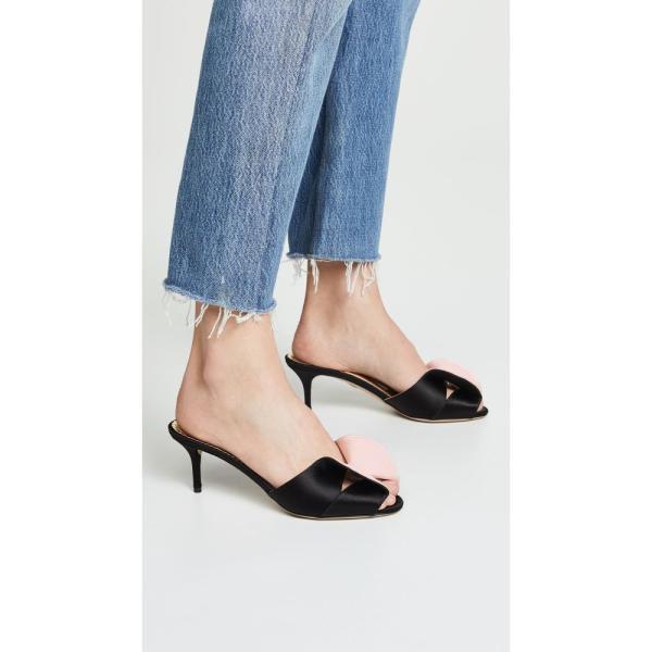 シャーロット オリンピア Charlotte Olympia レディース サンダル・ミュール シューズ・靴 Drew Slides Black/Pale Pink