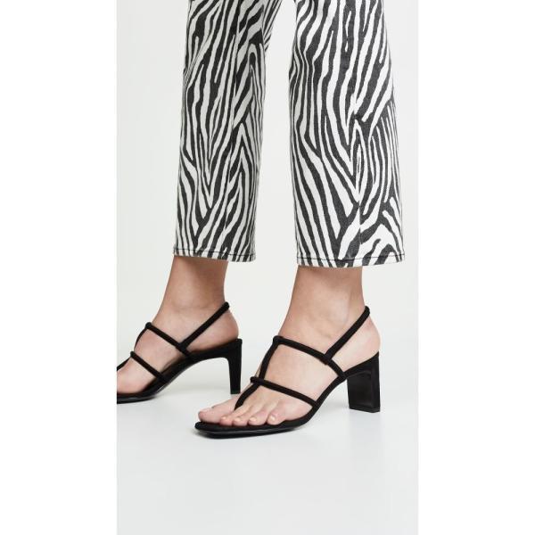 ドラティムール Dorateymur レディース サンダル・ミュール シューズ・靴 Thong Heeled Sandals Black