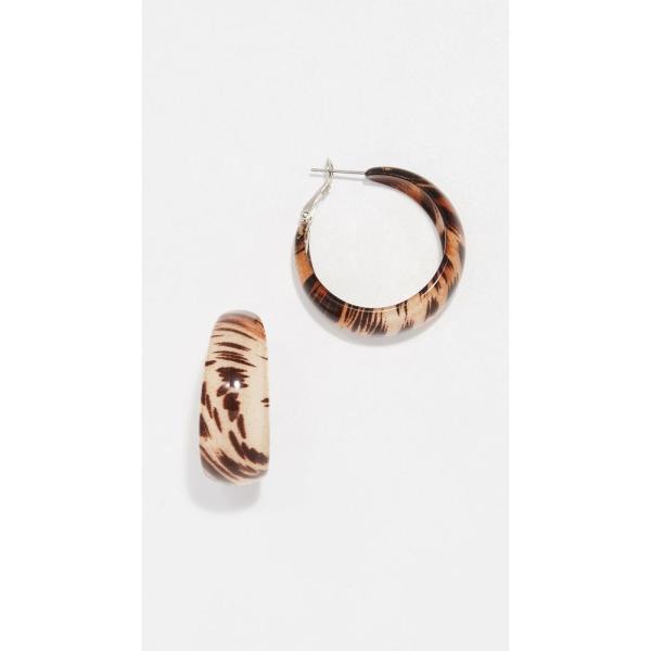 ケネスジェイレーン Kenneth Jay Lane レディース イヤリング・ピアス ジュエリー・アクセサリー Animal Print Hoop Earrings Animal Print