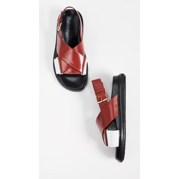 マルニ Marni レディース サンダル・ミュール シューズ・靴 Fussbett Sandals Hot Red/Lily White