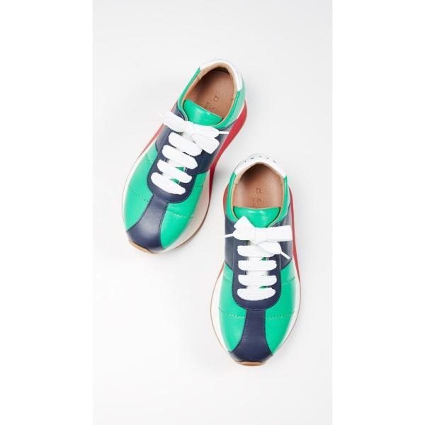 マルニ Marni レディース スニーカー シューズ・靴 Wedge Sneakers Garden Green/Blue Black