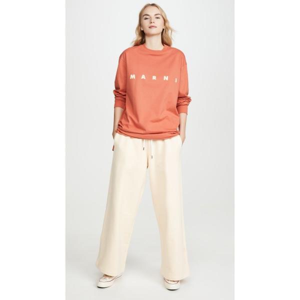 マルニ Marni レディース スウェット?ジャージ ボトムス?パンツ Sweatshirt Trousers Ivory|ef-3|04