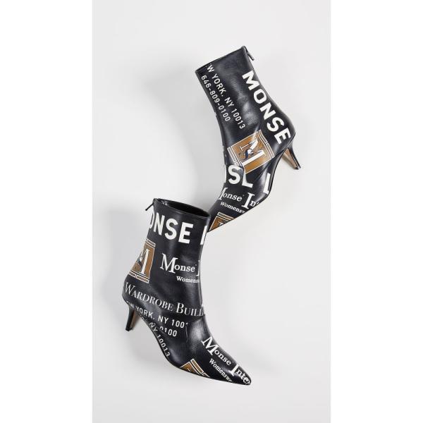 モンス Monse レディース ブーツ シューズ・靴 Package Print Booties Black